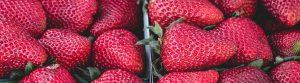 Detailed photo of fresh strawberries
