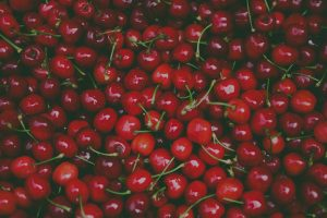 Detailed photo of cherries